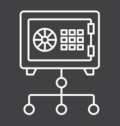network safe vault line icon strongbox vector image