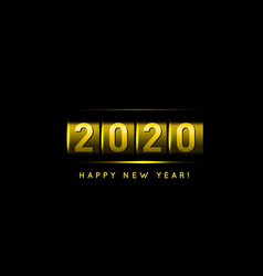 new year golden counter 2020 vector image