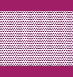 Purple heart shape pattern vector