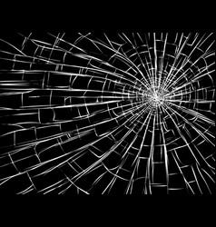 Radial cracks on broken glass vector