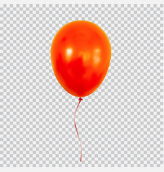 Red helium balloon isolated on transparent vector