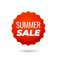 Red sticker summer sale vector