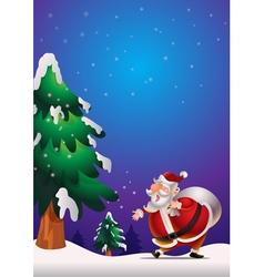 Santa Claus poster blue vector image