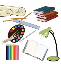 School set supplies vector