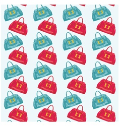 seamless bags pattern vector image
