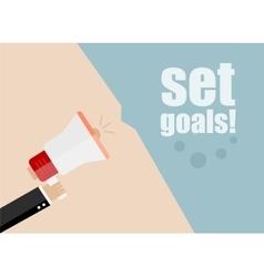 set goals Megaphone Icon Flat design vector image