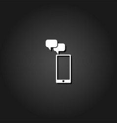 smartphone message icon flat vector image