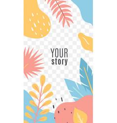 Social networks posts floral cover design vector