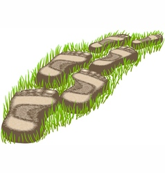 Stepping stones vector