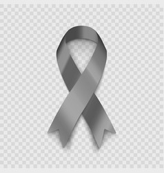 Stock gray ribbon isolated on vector