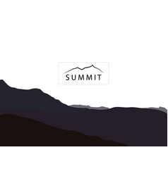 Summit nature concept logo vector