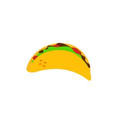 taco icon design template vector image
