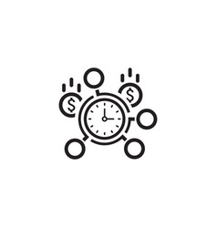 time management icon flat design vector image