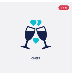 Two color cheer icon from love wedding concept vector