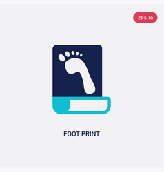 Two color foot print icon from history concept vector