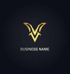 V initial company logo vector