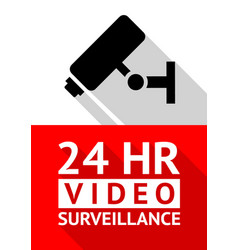 video surveillance sticker vector image