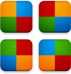 Web linen app icons vector image