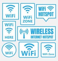 wifi icons and signs wireless signal vector image