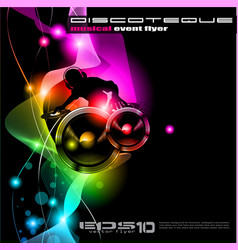 Disco Event Poster vector image vector image