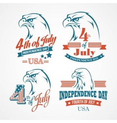 Independence Day typography and an eagle vector image