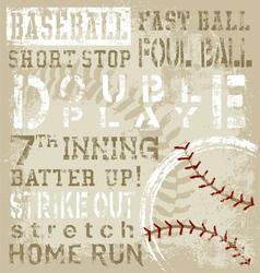 baseball terms vector image vector image