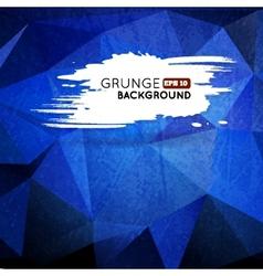 Grunge blue background with splash banner vector image vector image