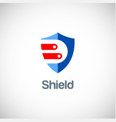 shield data guard logo vector image vector image