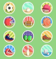 Sport Equipment Flat Icon vector image vector image
