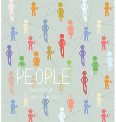 Abstract background with people social network vector image vector image