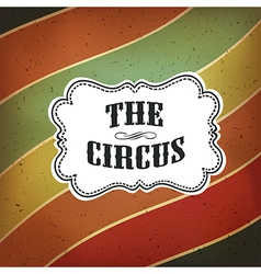 circus lines retro background vector image vector image