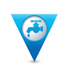 water tap icon map pointer blue vector image vector image