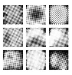 set of halftone texture vector image