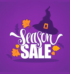 31 october halloween sale banner with witch hat vector