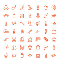 49 fire icons vector image