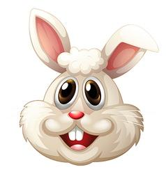 A smiling rabbit vector
