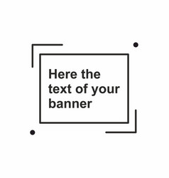 Abstract frame banner template vector