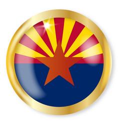 Arizona flag button vector