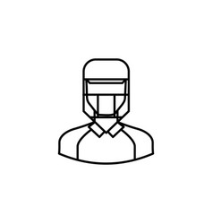 avatar cricket outline icon signs and symbols can vector image