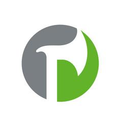 Axe logo template ax icon design circle shape vector
