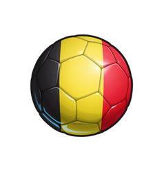 Belgian flag football - soccer ball vector