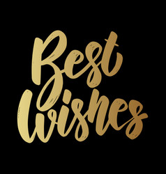 best wishes lettering phrase on grunge background vector image