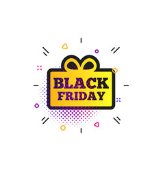 Black friday gift sign icon sale symbol vector