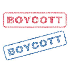 boycott textile stamps vector image