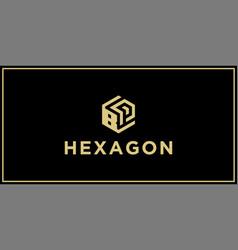 bp hexagon logo vector image