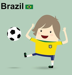Brazil national football team businessman happy is vector