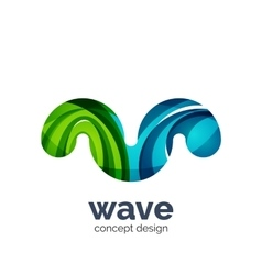 Business logo template - wave vector