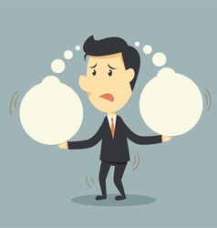 Businessman and think bubble vector