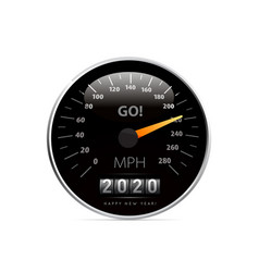 calendar 2020 in speedometer car vector image