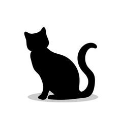 cat pet black silhouette animal vector image